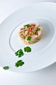 Monk fish tartare with quinoa