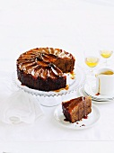 Ginger-pear cake with caramel sauce