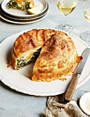 Torta pasqualina (Easter cake with spinach and eggs, Italy)