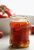 Preserved red peppers