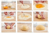 Making pasta dough