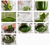 Making dye from spinach