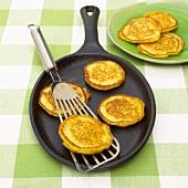 Mini corn pancakes