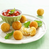 Arancini (crispy fried Sicilian rice balls, Italy)