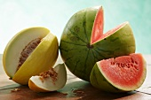 Watermelons and honeydew melons
