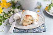 A scone with cream