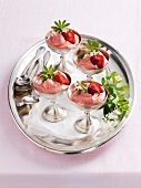 Strawberry and woodruff mousse