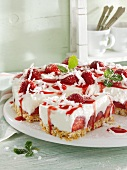 Coconut and strawberry cake