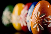 Carved Wooden Easter Eggs