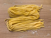 Tagliatelle coloured and flavoured with saffron