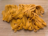 Tagliatelle coloured and flavoured with chilli