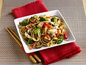 Tofu and Vegetable Stir Fry with Noodles