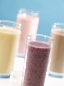 Variety of Smoothies in Glasses