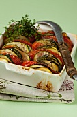 Courgette and tomato gratin with thyme