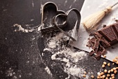 Cutters and baking ingredients