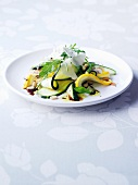 Courgette salad with pine nuts and Parmesan