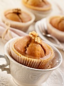 Sea buckthorn muffins with walnuts
