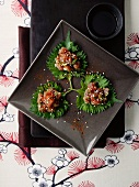 Tuna on cress leaves (Asia)
