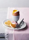 Frühstücksei mit Herztoast