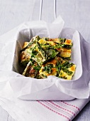 Frittata with green asparagus