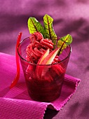 Beetroot and apple sorbet