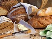 An arrangement of bread