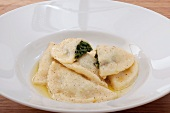 Potato ravioli filled with spinach, South Tyrol, Italy