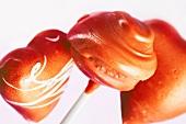 Cake pops with a grapefruit glaze