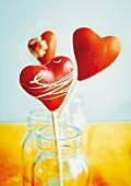 Heart-shaped cake pops