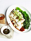 Steamed rice noodle rolls filled with prawns