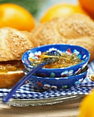 Marmalade and sesame seed rolls