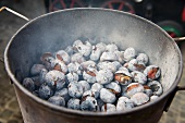 Roasted chestnuts with salt