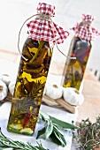 Homemade porcini mushroom oil as a gift
