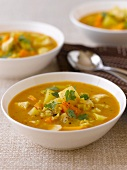 Vegetable soup with pumpkin
