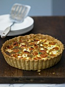 Tomato quiche with spinach