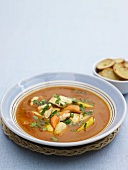 Scallop and fish soup