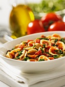 Orecchiette pasta with rocket and tomatoes