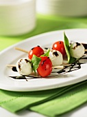 Spiedini capresi (tomato and mozzarella kebabs, Italy)