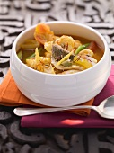 Oriental fish and seafood stew