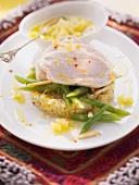 Marokkanisches Zitronenhähnchen mit Bohnen und Bulgursalat