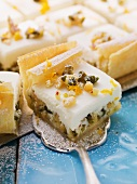 Baklava with almond cream