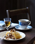Apple strudel, Calvados and a cup of coffee