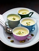 Saffron cream with pistachios