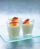 Buttermilk desserts with citrus fruits