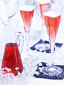 Champagne cocktails for Christmas