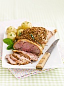Leg of lamb with a crust