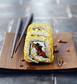 Maki sushi with omelette
