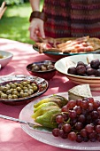 Mediterranean dishes on a garden table