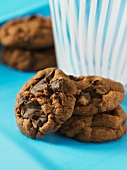 Double chocolate chuck cookies