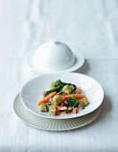 Herb gnocchi with vegetable ragout